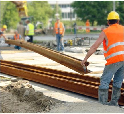 Steel Erection Work lifting
